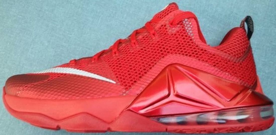new style b911a 177fb Nike LeBron 12 Low University Red/Reflect Silver-Gym Red ...