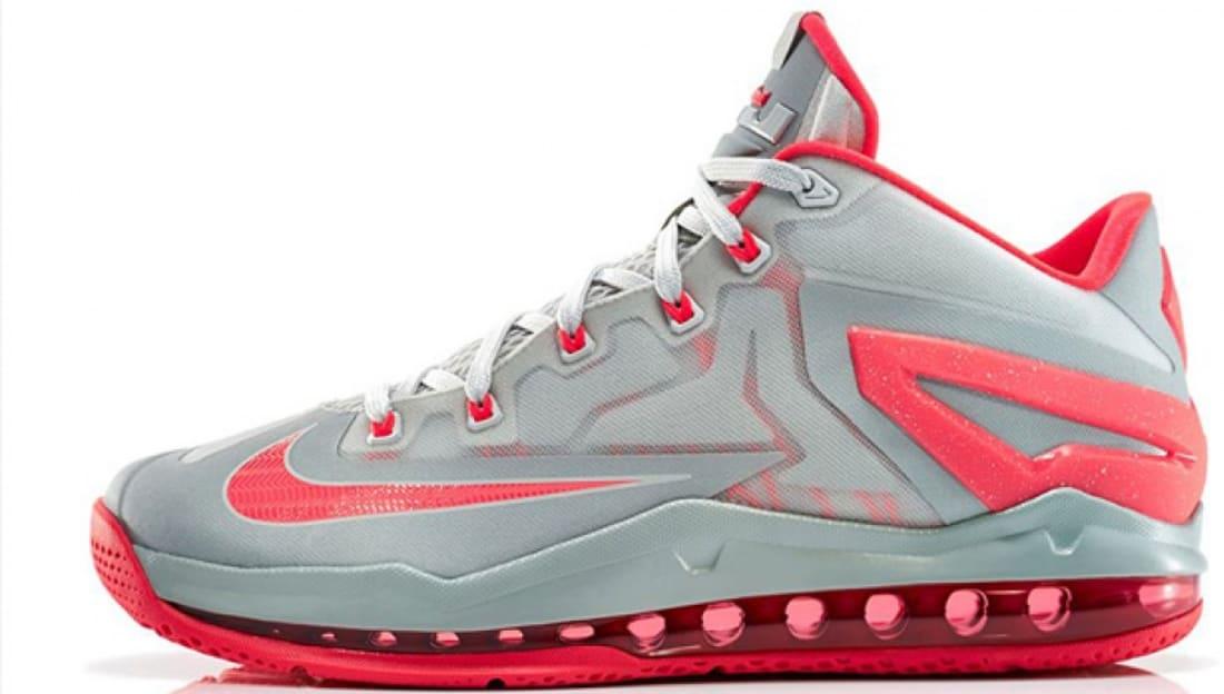 Nike LeBron 11 Low Light Base Grey/Light Crimson-Base Grey