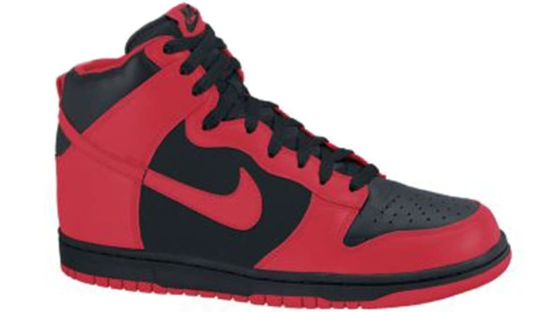 Nike Dunk High Black Action Red  1ded419f5191