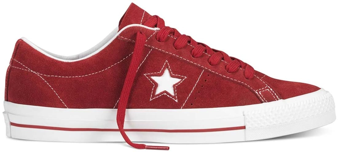 CONVERSE ONE STAR PRO WHITE RED