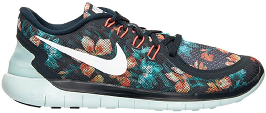 Nike Free 5.0 2015 Black/Summit White-Hot Lava-Light Aqua