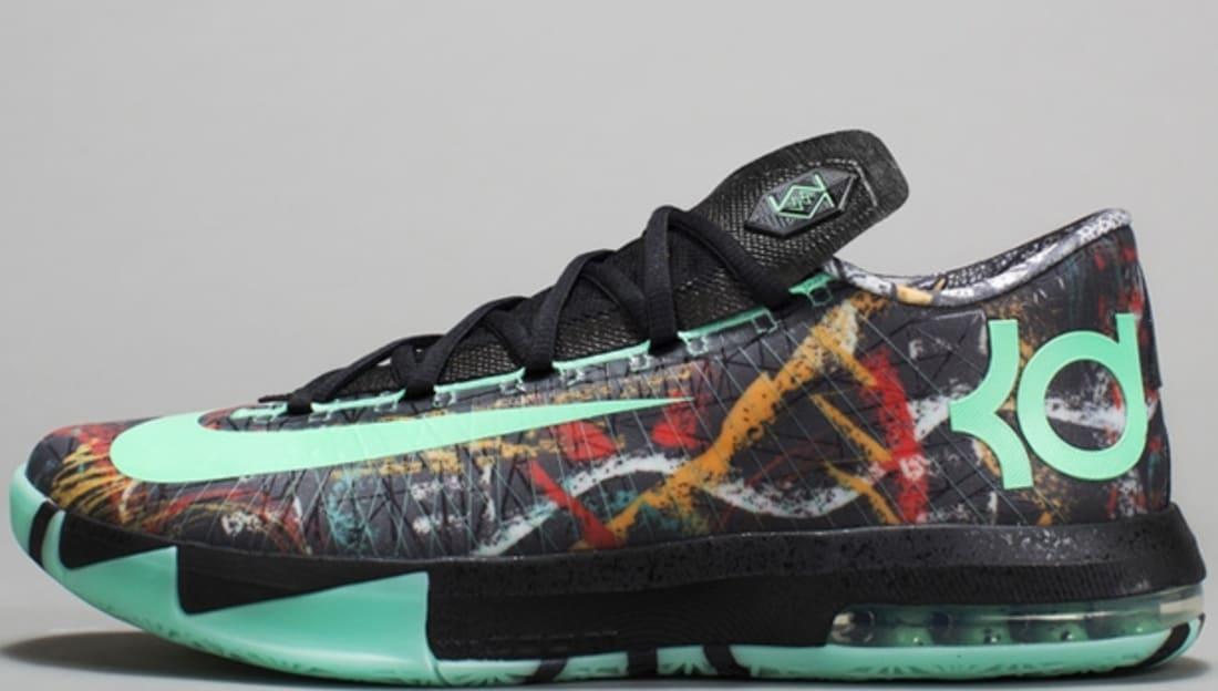 cheap for discount 2a627 59ab9 Nike · Nike KD · Nike KD 6 (VI). Nike KD VI AS Multi-Color Green Glow-Black