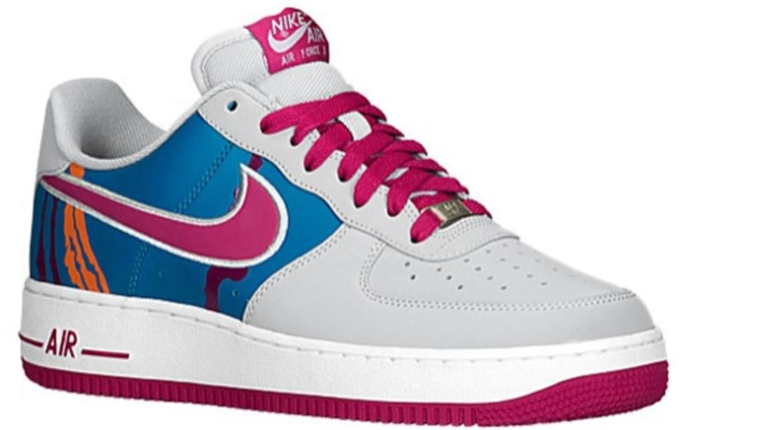 Nike Air Force 1 Low Wolf Grey/Bright Magenta-Green Abyss