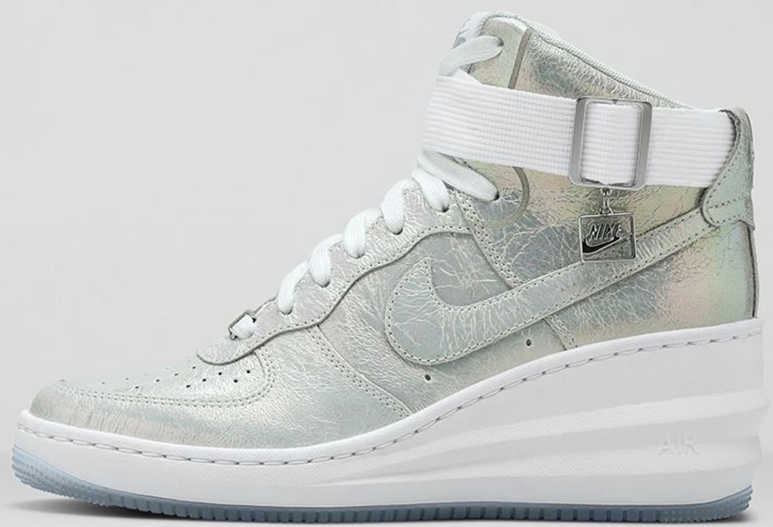 Nike Lunar Force 1 Sky Hi Women's WhiteMetallic Silver