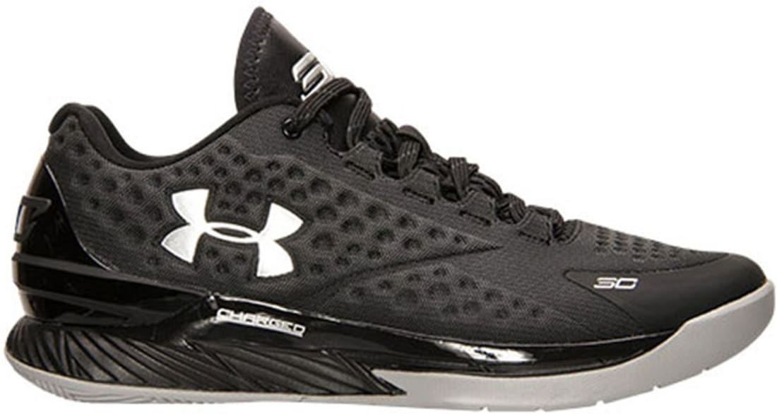 98959415576d Under Armour Curry One Low Black Stealth Grey-Metallic Silver ...