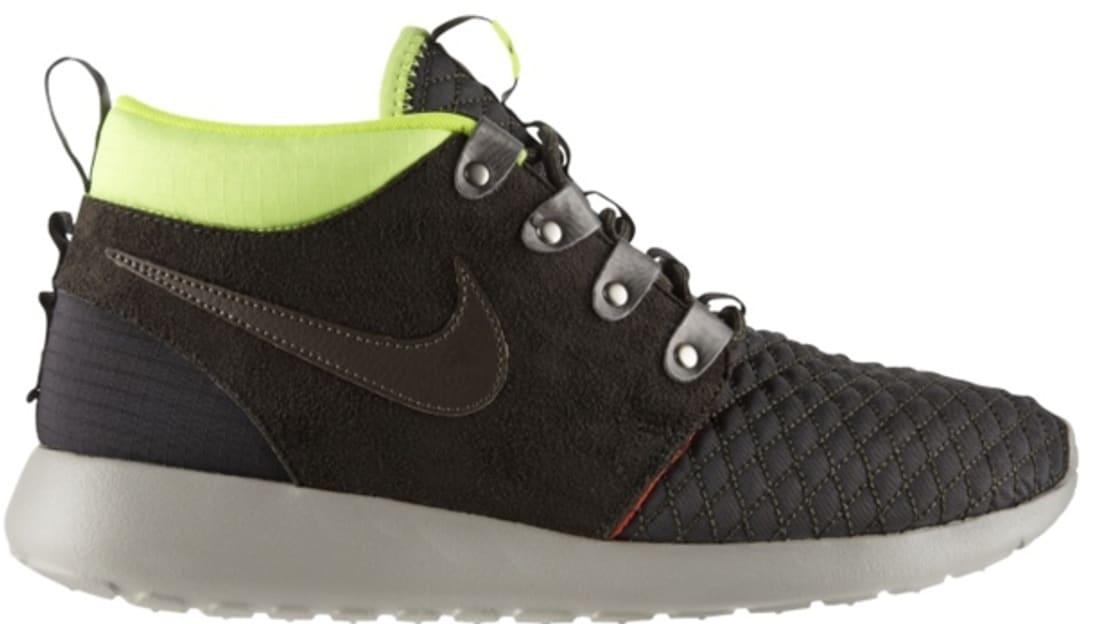 Nike Roshe Run Sneakerboot Newsprint/Smoke-Volt-Total Crimson