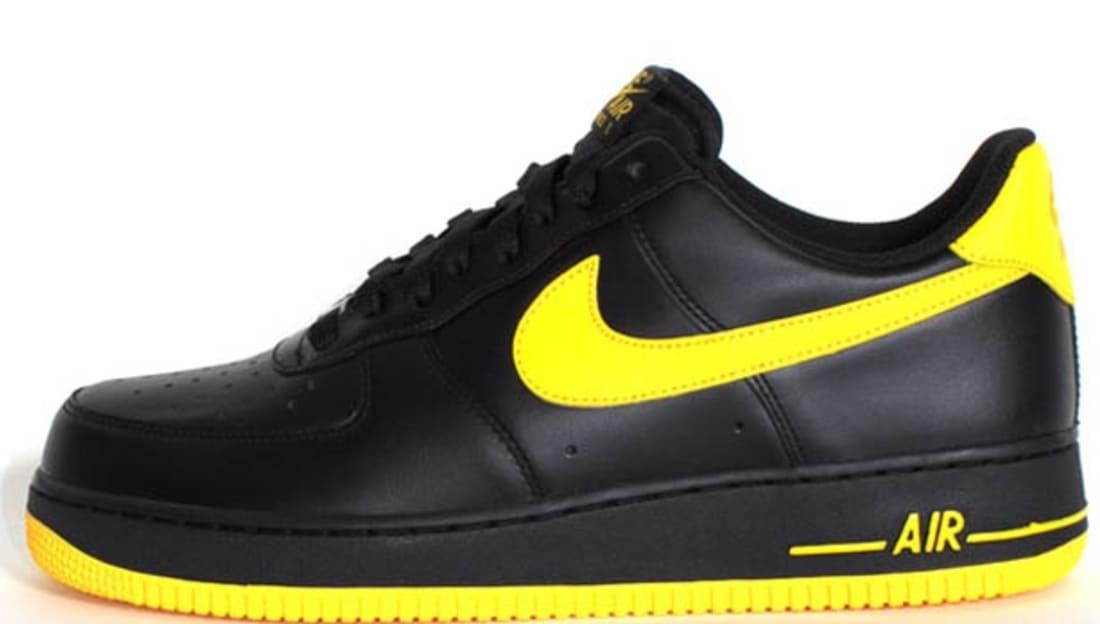 newest e740e 199b6 Nike Air Force 1 Low Black Varsity Maize