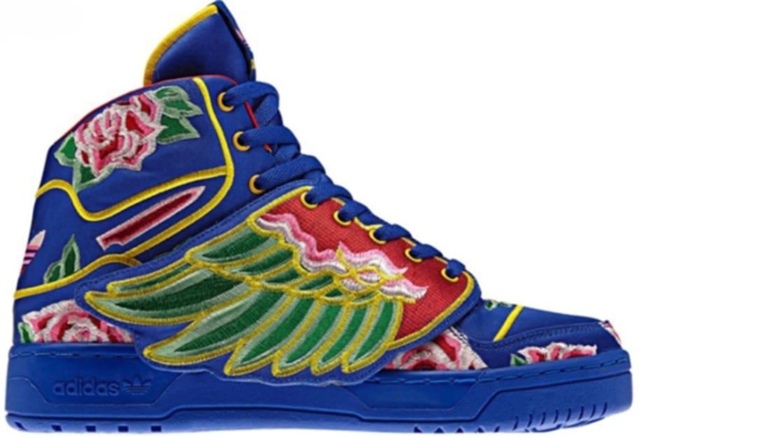 2013 Adidas X Jeremy Scott Wings 2.0 Shoes White Blue Sale