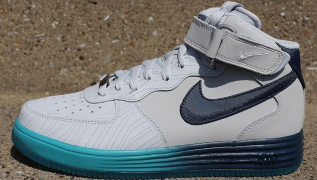 Nike Lunar Force 1 Mid LTR Pure Platinum/Squadron Blue-Sport Turquoise
