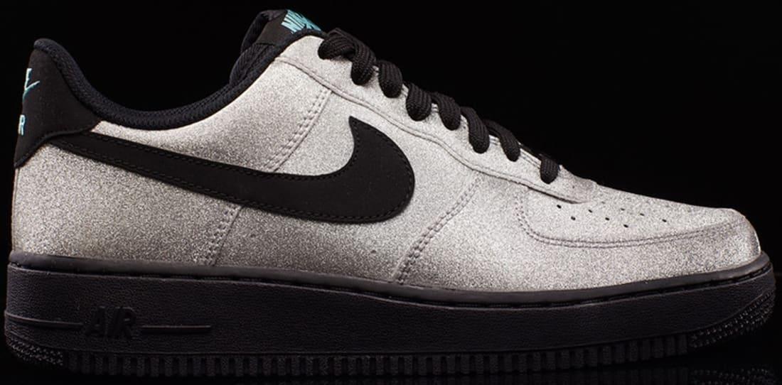 Nike Air Force 1 Low – Metallic Silver Black •