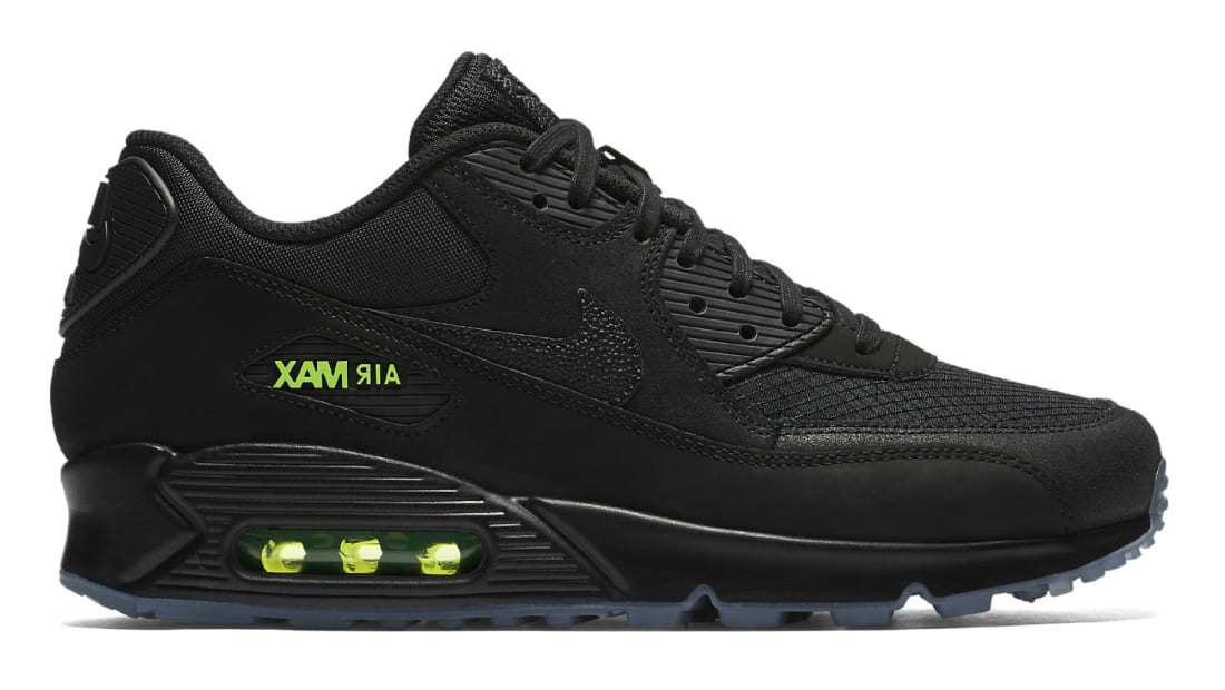 Nike Air Max 90 Black/Black-Volt