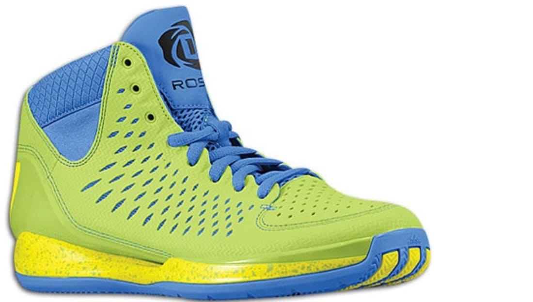 adidas Rose 3 Green/Lemon-Blue-Black