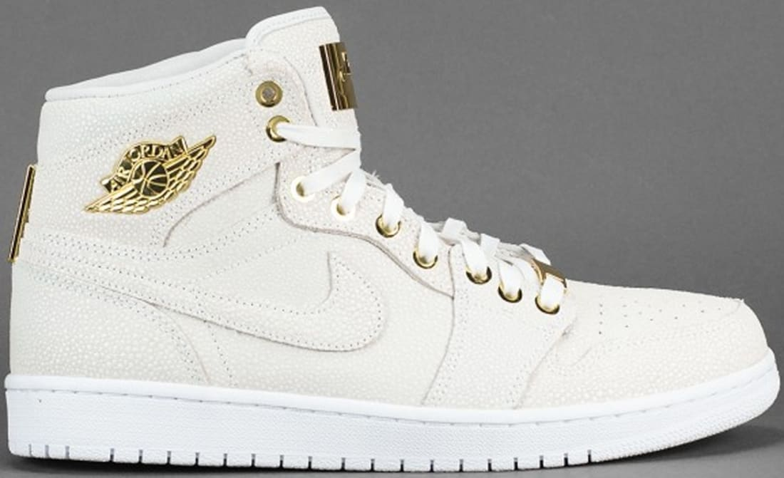 Air Jordan 1 Retro High OG Pinnacle White/White-Metallic Gold-White