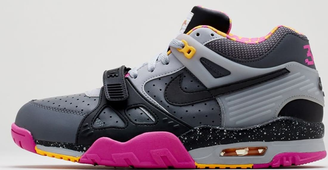 074fc605d8ca Nike Air Trainer III Premium QS Dark Grey Black-Wolf Grey-Club Pink ...