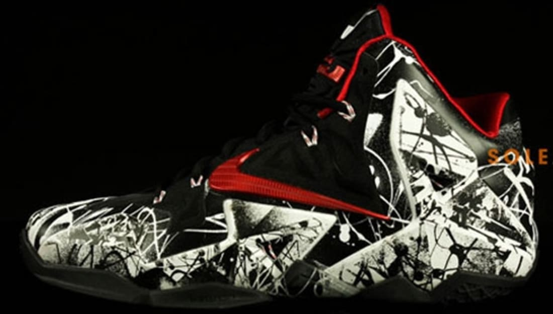 e847f0283ea9a Nike LeBron 11 White University Red-Black