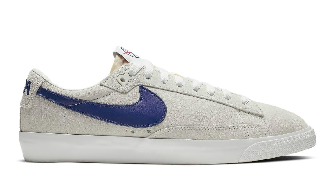 Polar Skate Co. x Nike Blazer Low Summit White/Deep Royal Blue