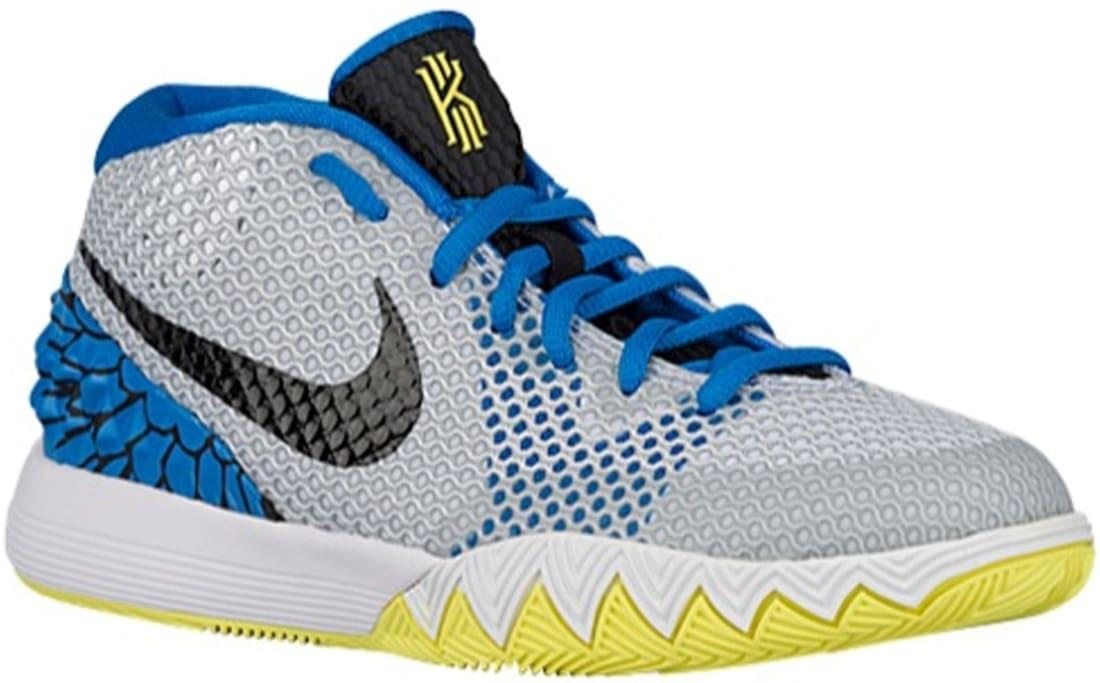 super popular 1f274 75aa7 Nike Kyrie 1 GS White Black-Light Voltage Yellow-Light Photo Blue-