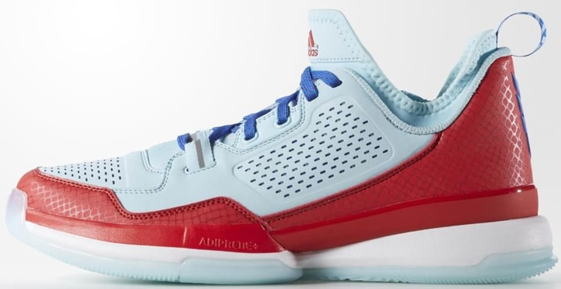 adidas D Lillard 1 Frozen Blue/Scarlet-Blue