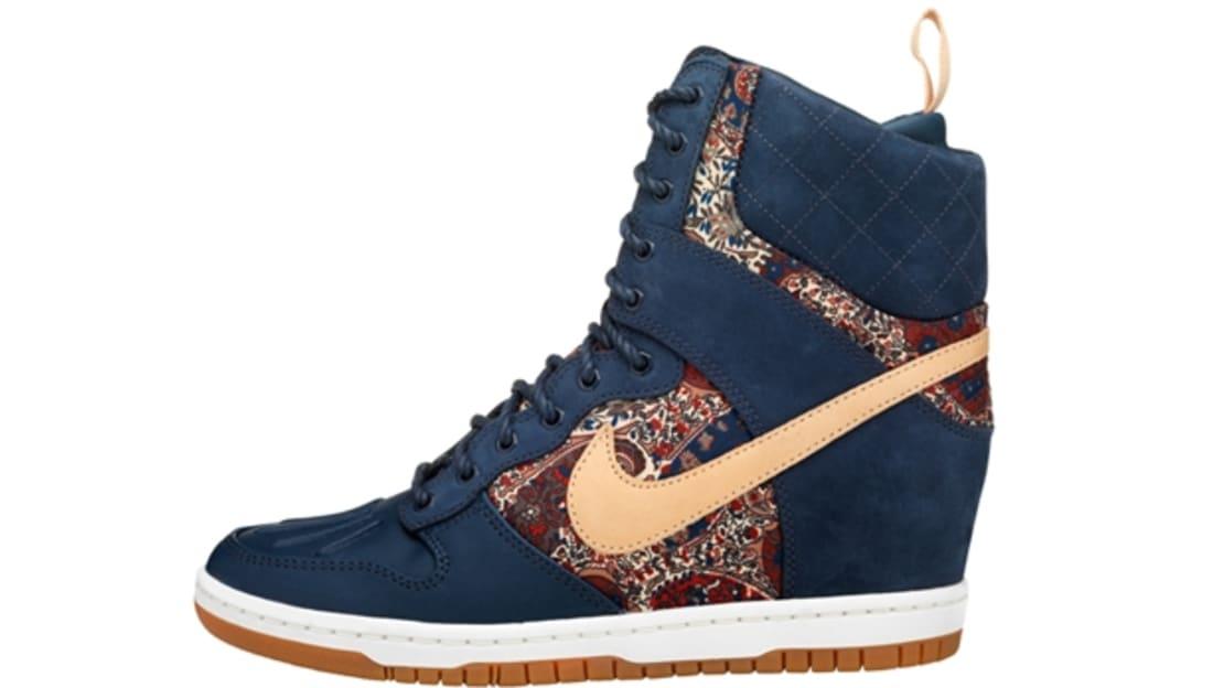 sports shoes 286a3 20df0 Nike Dunk Sky Hi Sneakerboot Liberty QS Women s Armory Navy Vachetta Tan