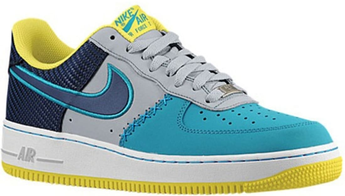 official photos 65895 ab16b Nike Air Force 1 Low Wolf Grey Midnight Navy-Tropical Teal