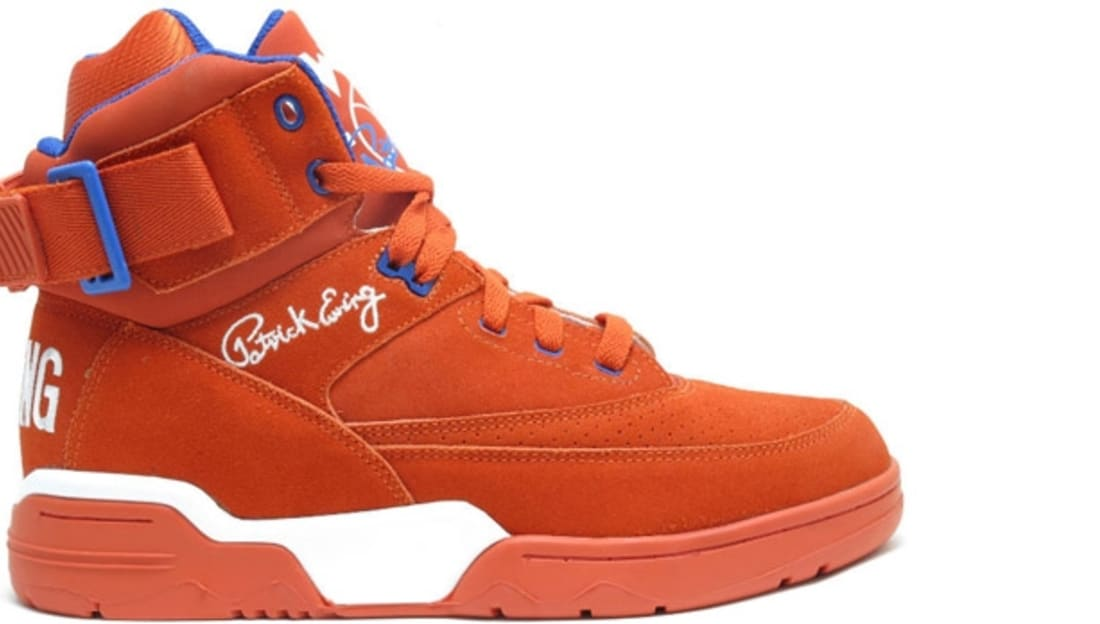 best sneakers 0451d 39641 Ewing Athletics Ewing 33 Hi Orange Blue-White