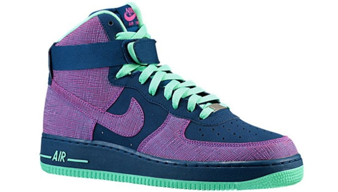 Nike Air Force 1 High Brave Blue Cherrywood Red Green Glow Nike