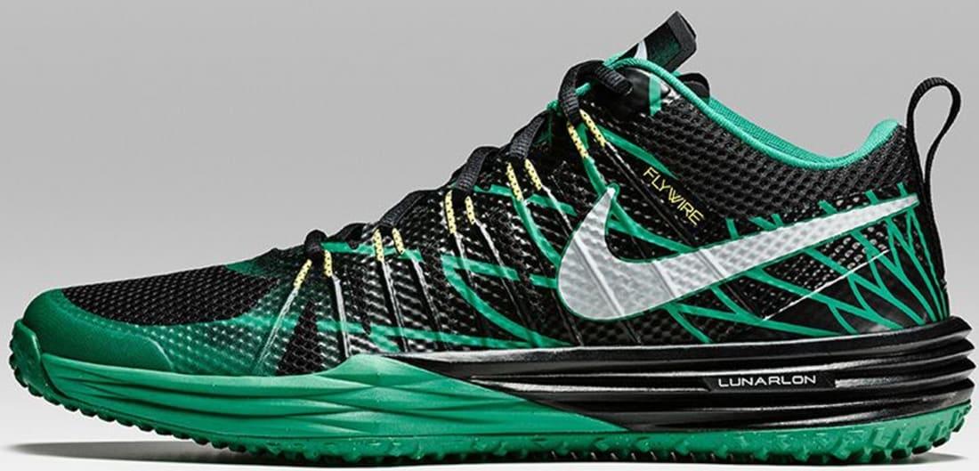 sports shoes 649d7 bd32c Nike Lunar TR1 Metallic Silver Kelly Green-Yellow Strike-Black