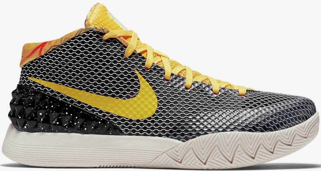 fdb7aa232e86 Nike Kyrie 1 LMTD Black Tour Yellow-Sail-Light Bone