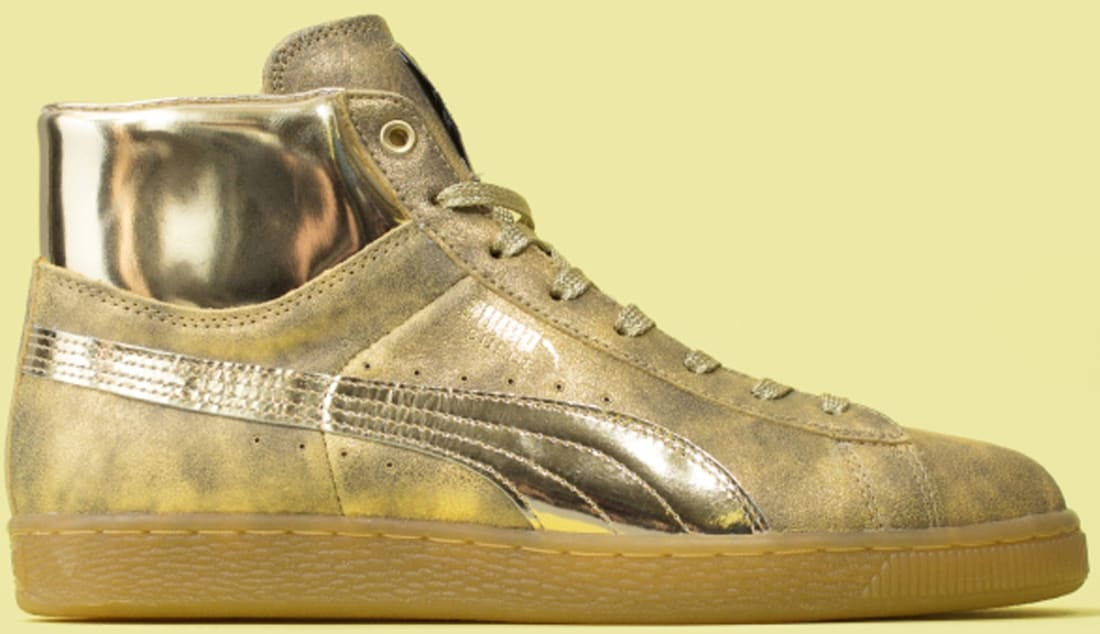 Puma Suede Mid Gold/Gold