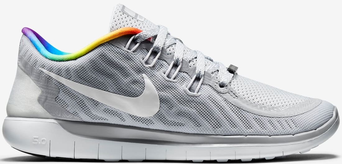 Nike Free 5.0 2015 Pure Platinum/White-Rainbow