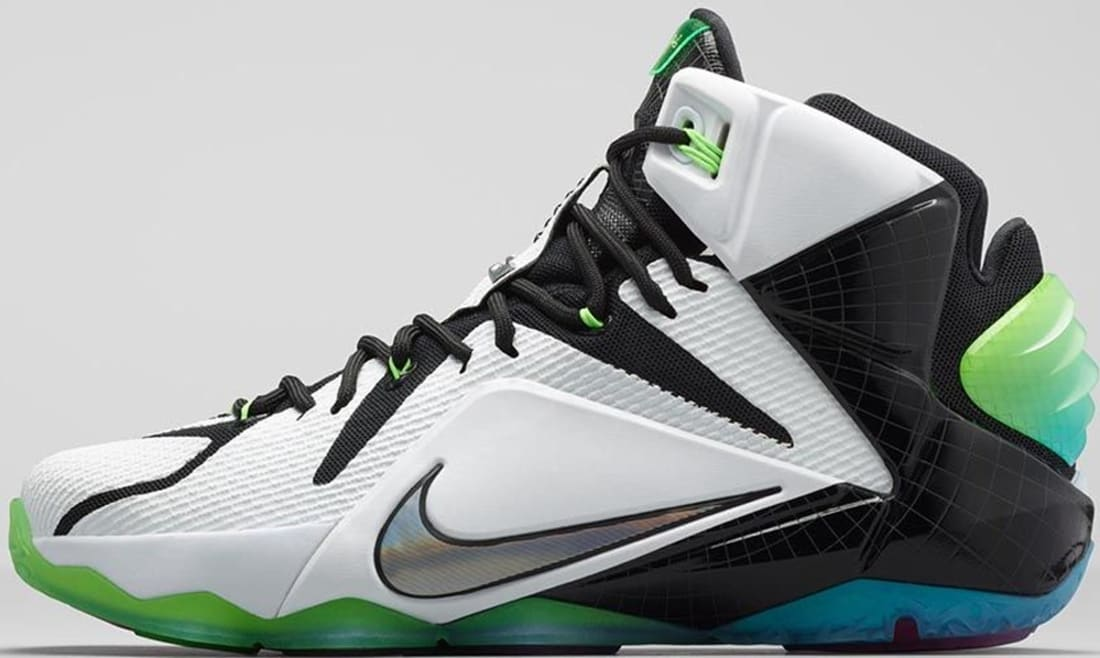 new arrival ad19c 50124 Nike LeBron 12 AS White Multi-Color-Black