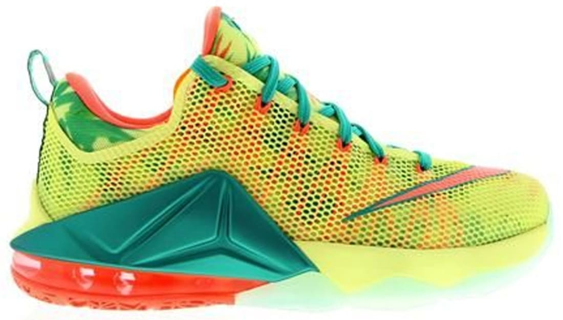 the latest b6773 031f7 Nike · Nike LeBron · Nike LeBron 12 (XII). Nike LeBron 12 Low White Lime Bright  Mango-New Green