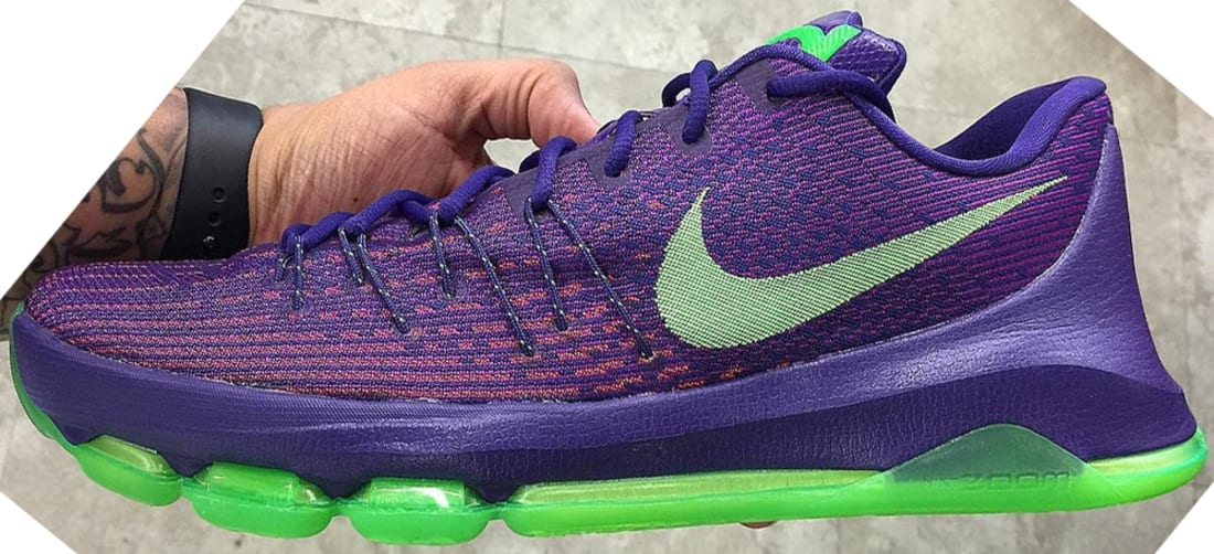 top fashion 03b52 0f760 Nike KD 8 Court Purple/Green Strike-Vivid Purple-Bright ...