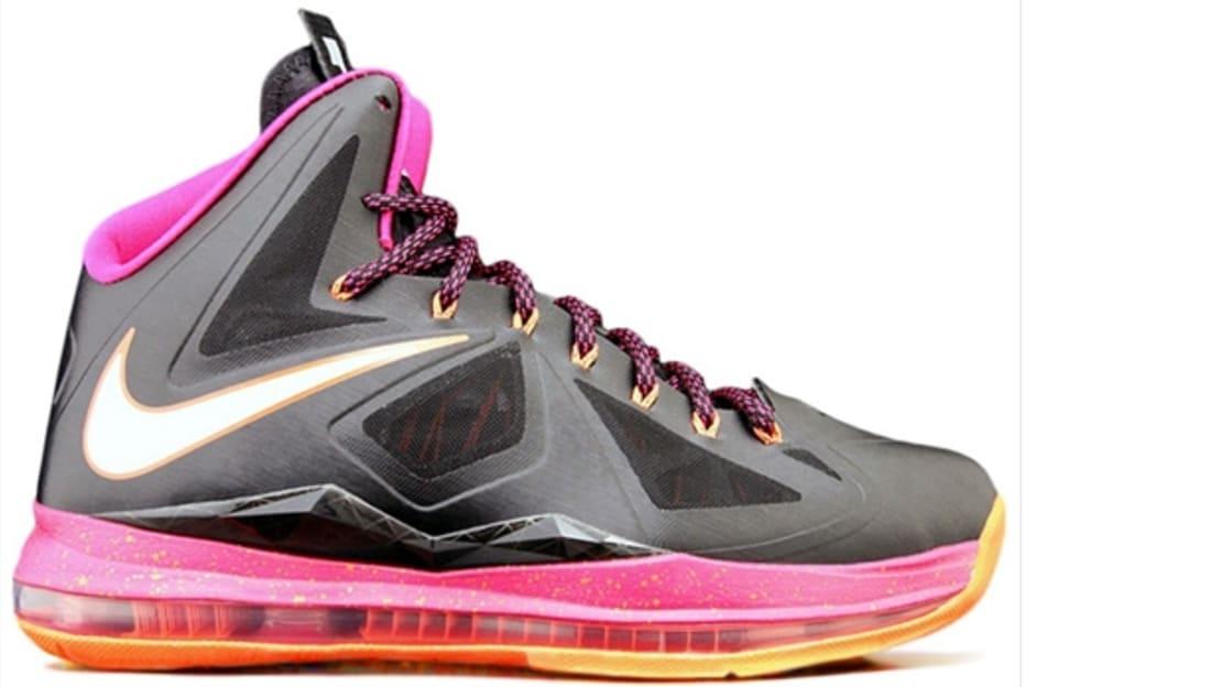 Nike LeBron X Floridians Black Fireberry  e5cd97bb2
