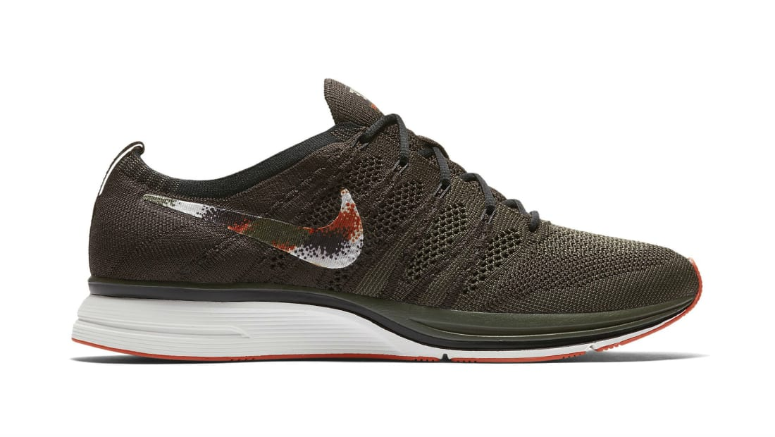 7511925407fcf Nike · Nike Running · Nike Flyknit Trainer. Nike Flyknit Trainer Dark Green  Black-White