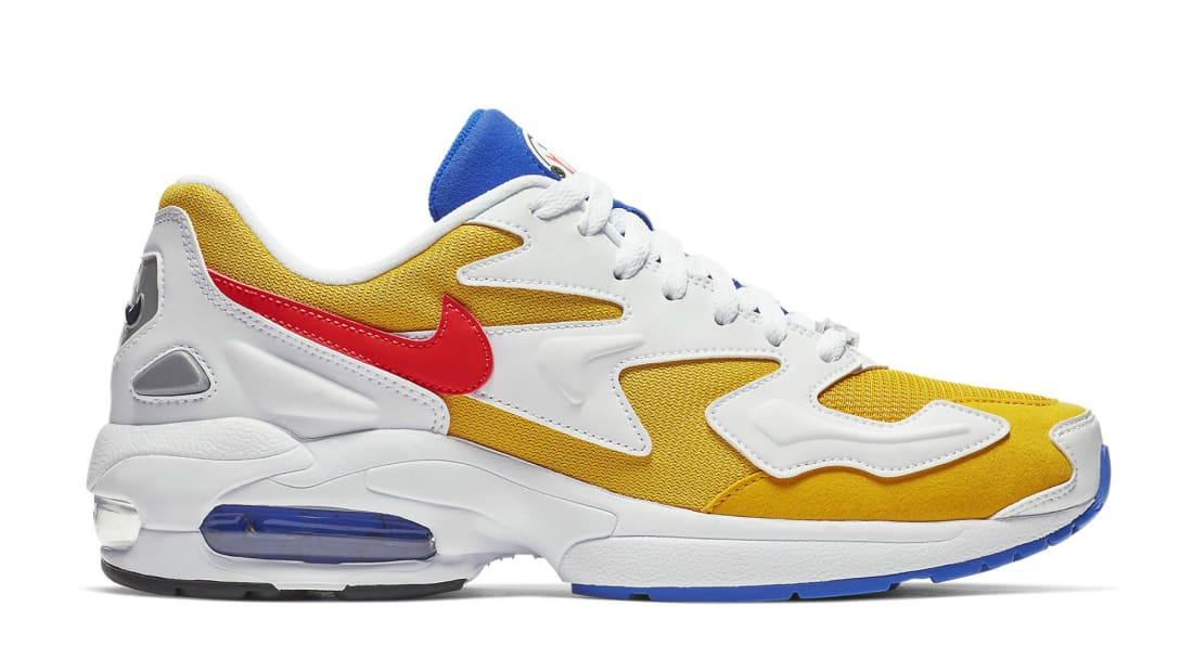 892b989e27 Nike Air Max 2 Light University Gold/Flash Crimson-Racer Blue | Nike ...