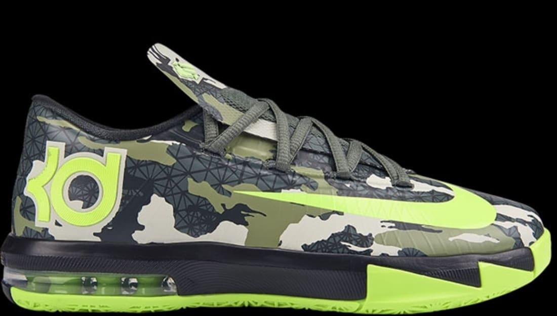 fd6e0372ffda Nike KD VI GS Dark Mica Green Volt-Black Pine