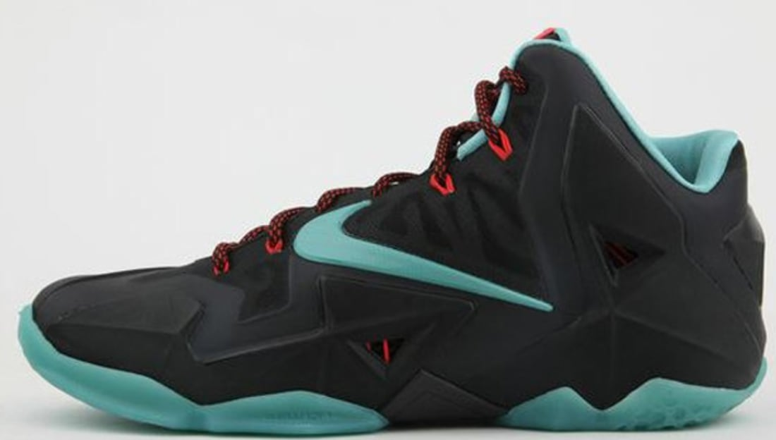 huge selection of b7b83 4bf4d Nike LeBron 11 Black Diffused Jade-Light Crimson-Jade Glaze