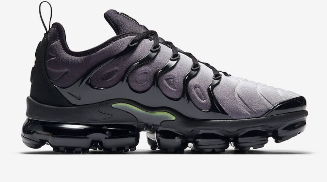 half off f1080 f79d6 Nike Air VaporMax Plus Black/Volt-White | Nike | Sole Collector