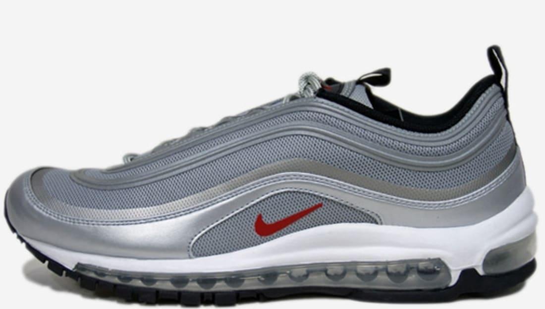 8750a361fab473 Nike Air Max  97 Premium Tape QS Metallic Silver Varsity Red-White ...