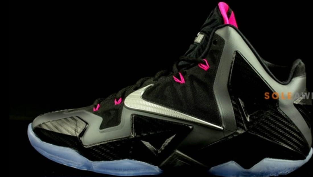 promo code 3c988 be2ad Nike · Nike LeBron · Nike LeBron 11 (XI). Nike LeBron 11 Black Metallic  Silver-Pink Foil