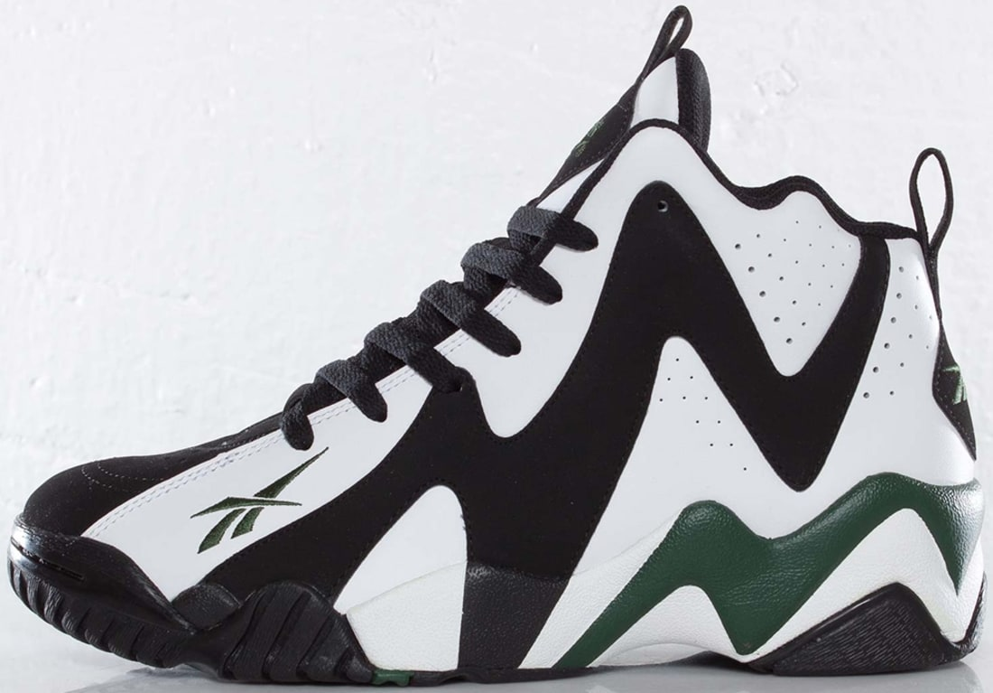 Reebok Kamikaze 2 Mid OG Black White-Racing Green  bc7541a00c