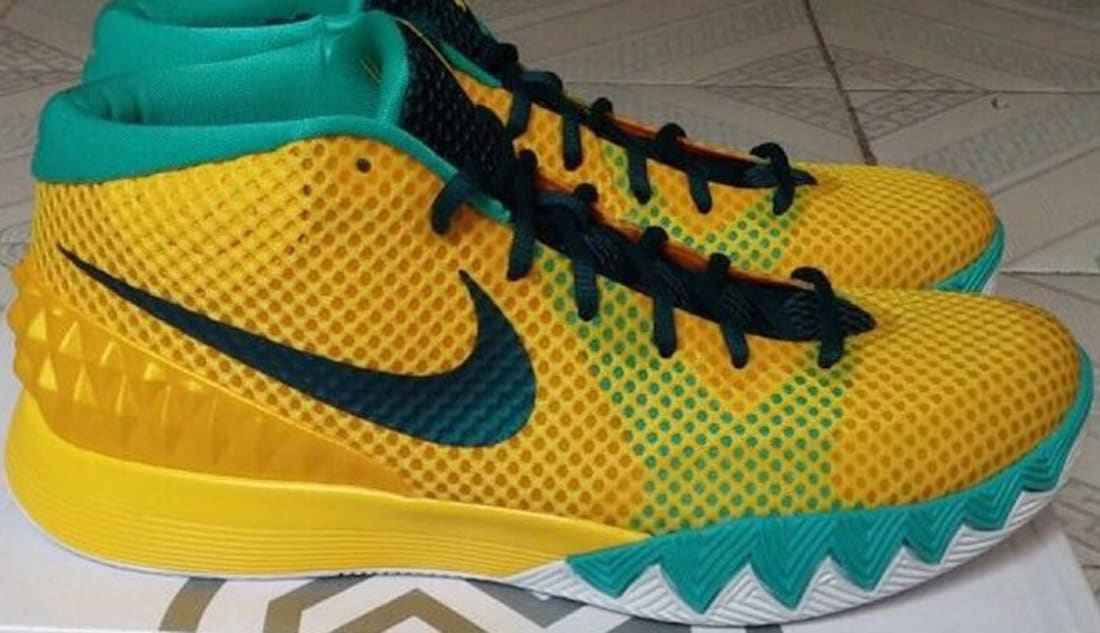 finest selection 6720c e413e Nike Kyrie 1 Tour Yellow University Gold-Light Retro-Teal
