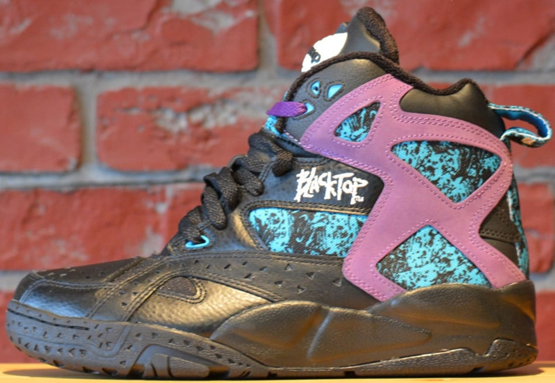 23be78de2596 Reebok Blacktop Battleground Pump Black Purple-Blue