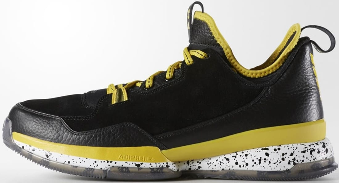 new styles cee8a 7a7ac adidas D Lillard 1 Black Yellow-White