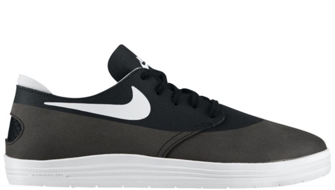 buy online 93370 796cf Nike Lunar One Shot SB Black White
