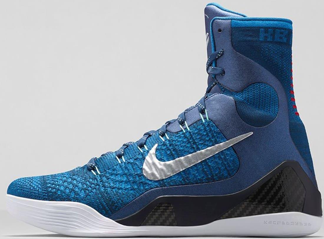 2a5f41f7a1c9 Nike · Nike Kobe · Nike Kobe 9 (IX). Nike Kobe 9 Elite Brave Blue Military  Blue-Dark Obsidian-Metallic Silver