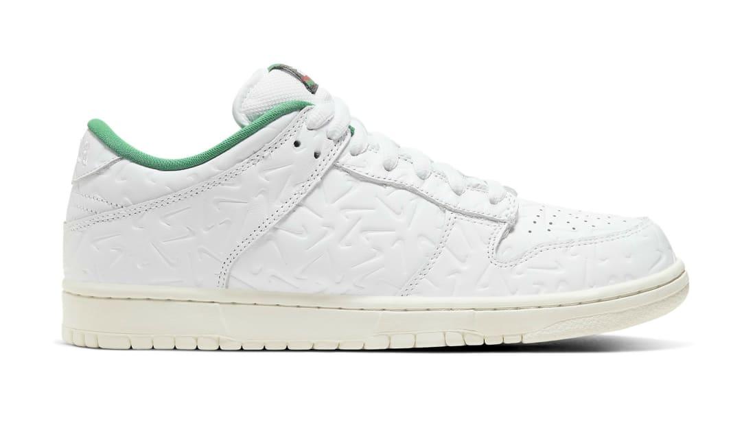 Ben-G x Nike SB Dunk Low White/Lucid Green-Sail