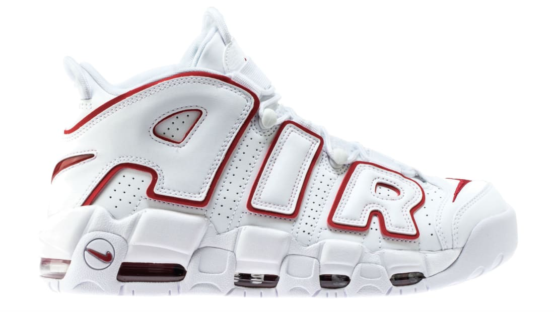 best authentic 88412 21e52 Nike Air More Uptempo White University Red-White