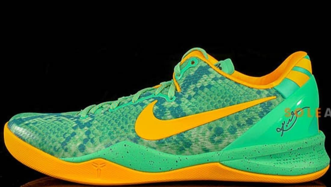 c7029760f146 Nike · Nike Kobe · Nike Kobe 8 (VIII). Nike Kobe 8 System Green Glow Laser  Orange-Mineral Teal